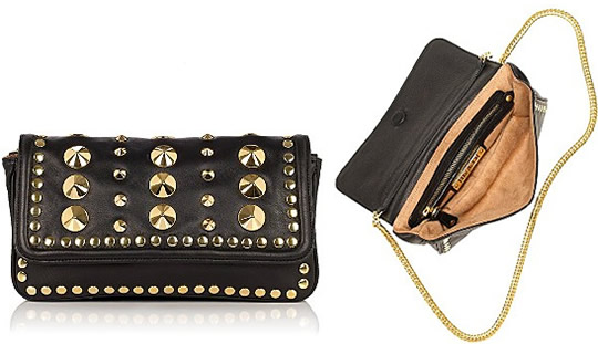 Be&D Garbo Studded Leather Baguette