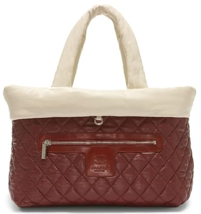 Chanel Ivory Reversible Quilted Lambskin Medium Tote