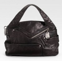 Donna Karan Crinkled Leather Satchel