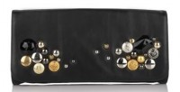 Isabella Fiore Soda Pop Carmela Studded Leather Clutch