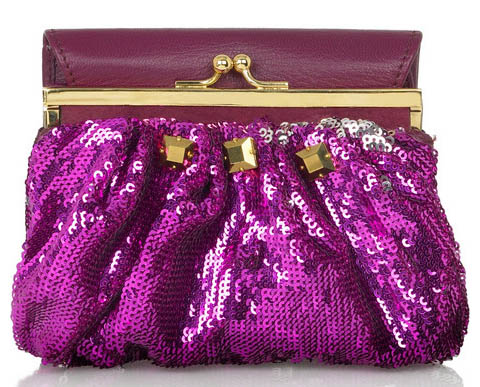 Marc Jacobs Frame Wallet Sequined Purse