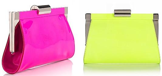 Michael Kors Neon Patent Leather Clutch