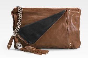 Olivia Harris Zip Pocket Leather Clutch