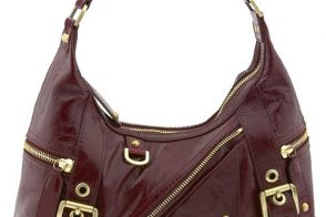 Rafe New York Zippered Glazed Leather Hobo