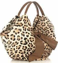 Valentino Leopard Print Goat Hair Bag