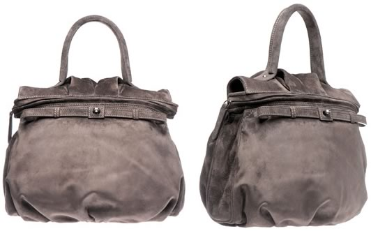 Zagliani Suede One Handle Bag