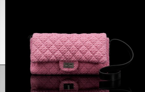 Chanel Quilted Tweed Pouch