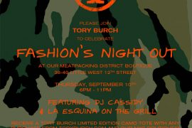 Tory Burch goes Camo for Fashion's Night Out