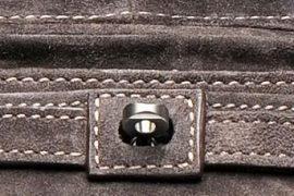 Zagliani Suede One Handle Bag