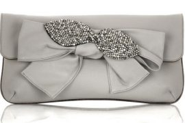 Chloe Leather Bow Clutch