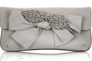 Chloe Leather Bow Clutch