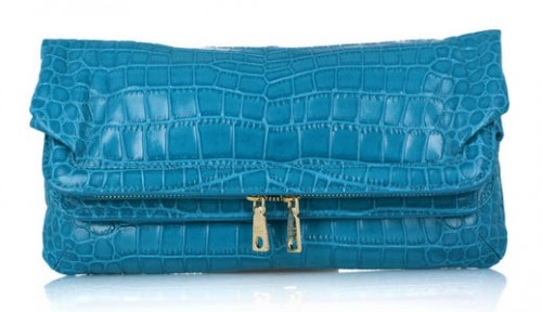 DKNY Stamped Leather Clutch