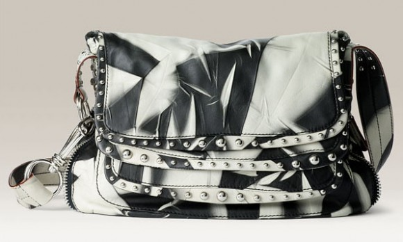 Donna Karan Chaos Leather Messenger Bag