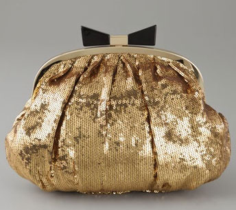 Felix Rey Grace Sequin Bow Clutch