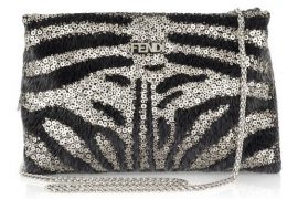 Fendi Calfhair and Sequin Shoulder Bag