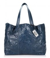Francesco Biasia Emily IV Crinkled Leather Tote