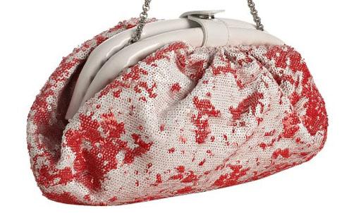 Giuseppe Zanotti Red Sequin Clutch