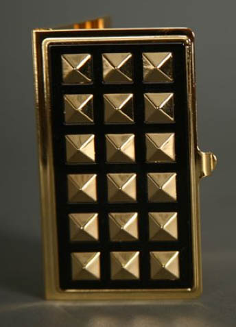Glam Noir Studded Card Holder