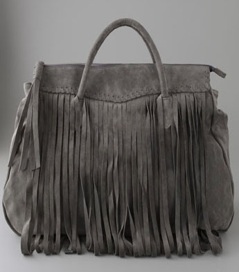 Great by Sandi Tal Suede Fringe Tote