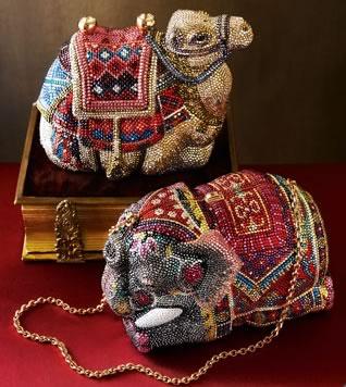 Judith Leiber Camel Elephant Minaudieres