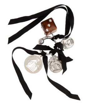 Lanvin Dice Charm Key Ring