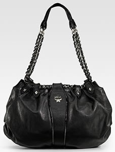 MCM Notte Large Leather Hobo