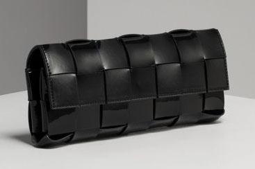 Michael Kors Patent Woven Clutch