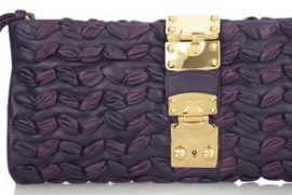 Miu Miu Plisse Leather Clutch