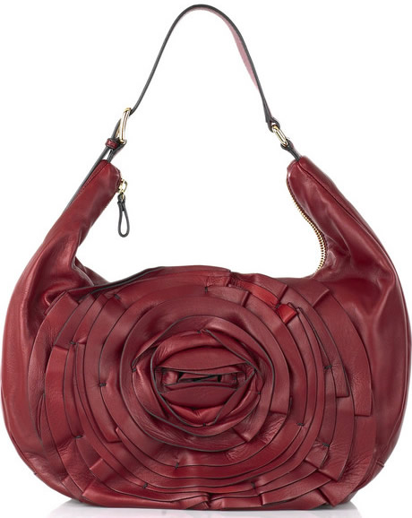 Valentino Petal Leather Hobo Bag