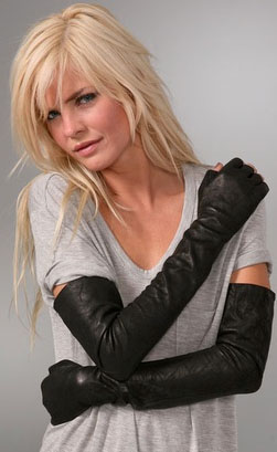 American Retro Corina Leather Fingerless Gloves