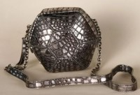 Botkier Orion Snake Embossed Small Shoulder Bag