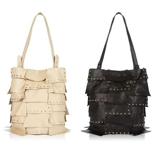 Bulga Hamilton Studded Leather Flap Tote