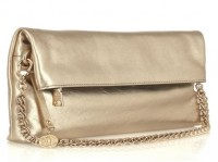 DKNY Fold-Over Metallic Clutch