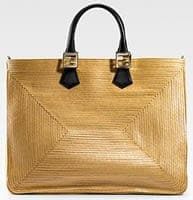 Fendi Twins Straw Tote