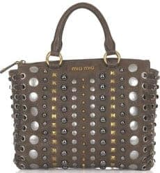 Miu Miu Studded Shoulder Bag