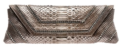 VBH Python Clutch with Crystal Detail