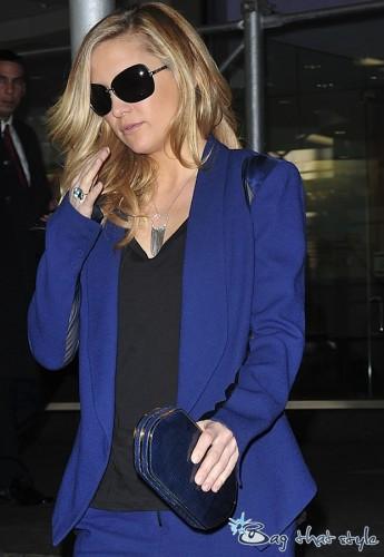 Kate Hudson Blue Clutch