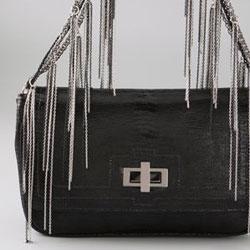 CC Skye Bridgette Gunmetal Fringe Bag - $540