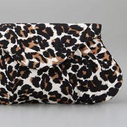 Lauren Merkin Lotte Leopard Clutch - $200