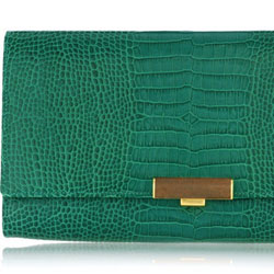 Smythson Stamped leather travel clutch - $710