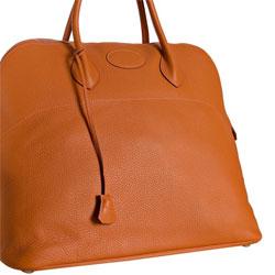 Hermes Orange Leather Bolide 47cm - $4900
