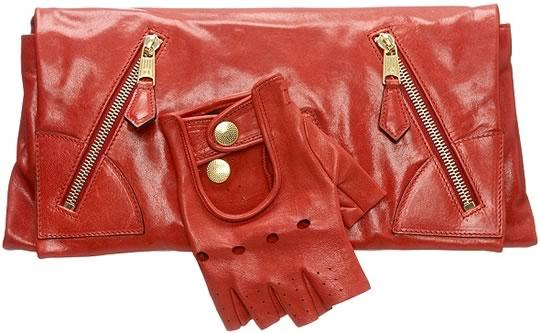 Alexander McQueen Red Faithful Glove Clutch