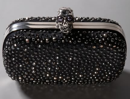 yves saint laurent chyc large flap shoulder bag - Dream handbags: Alexander McQueen Skull Diamante Clutch bags