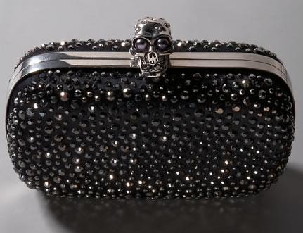 Alexander McQueen Skull Diamante Clutch