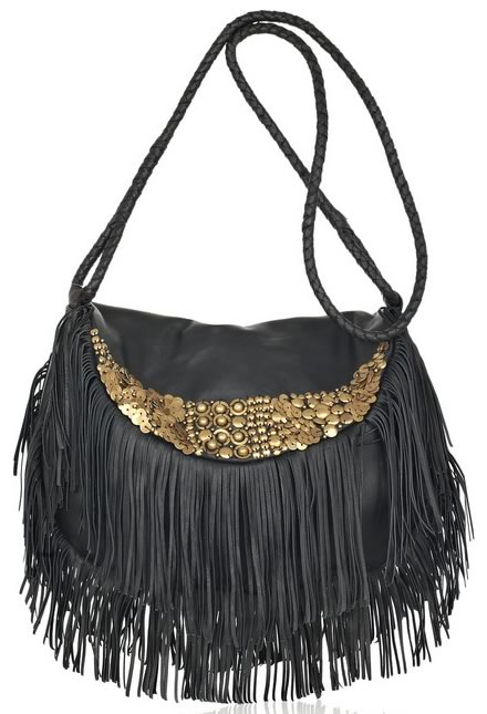 Antik Batik Bongo Fringed Leather Bag