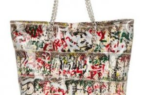 Carlos Falchi graffiti-print bags now available!