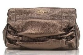 Cole Haan Bailey Metallic Leather Cosmetic Case