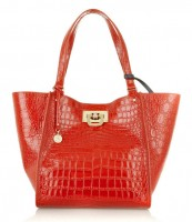 DKNY Croc-Effect Shopper