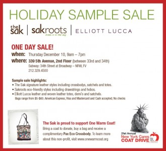 The Sak Holiday Sample Sale