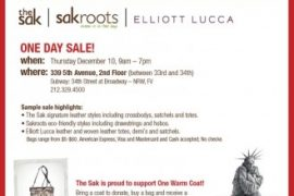 The Sak, sakroots & Elliott Lucca Winter Sample Sale